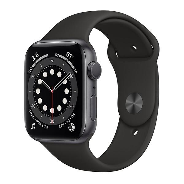 Смарт-часы Apple Watch Series 6 GPS, 44mm Space Gray Aluminum Case with Black Sport Band (M00H3)