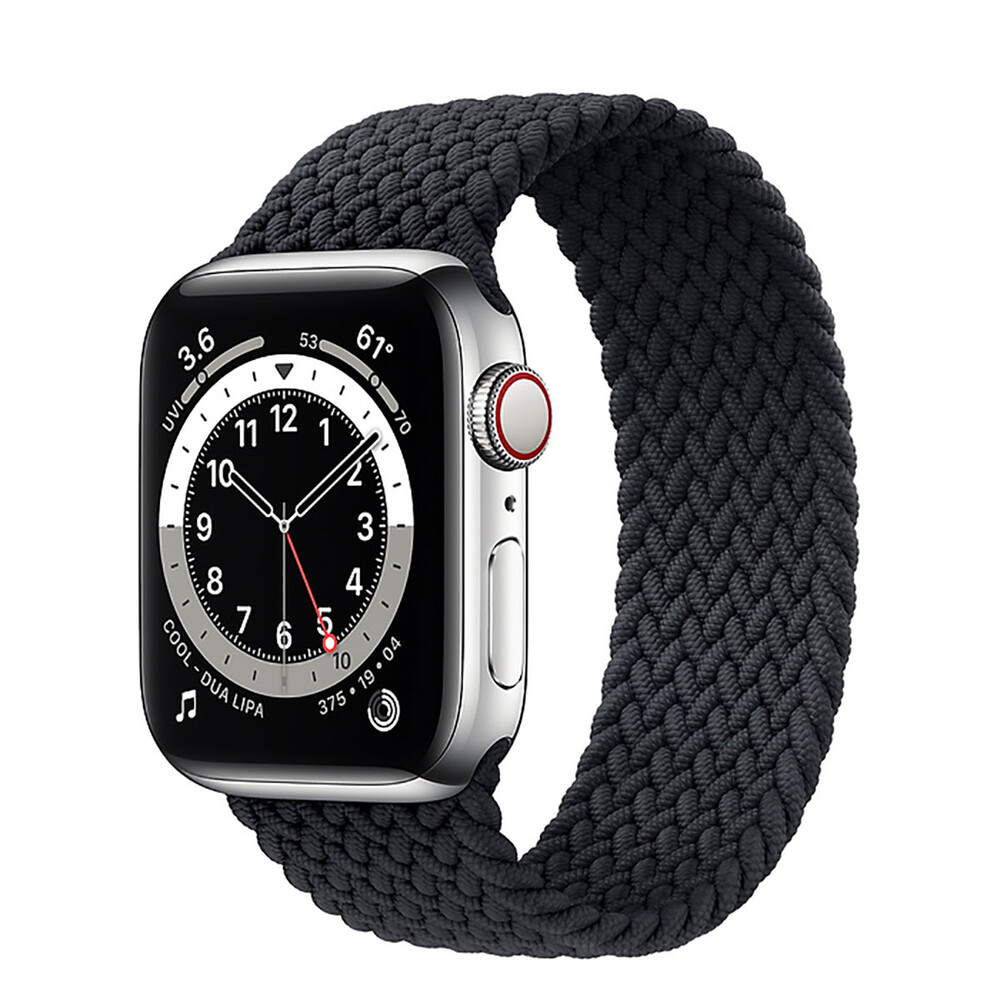 Купить Смарт-часы Apple Watch Series 6 GPS + Cellular, 40mm Silver Stainless Steel Case with Charcoal Braided Solo Loop (M0DC3   M0DV3)