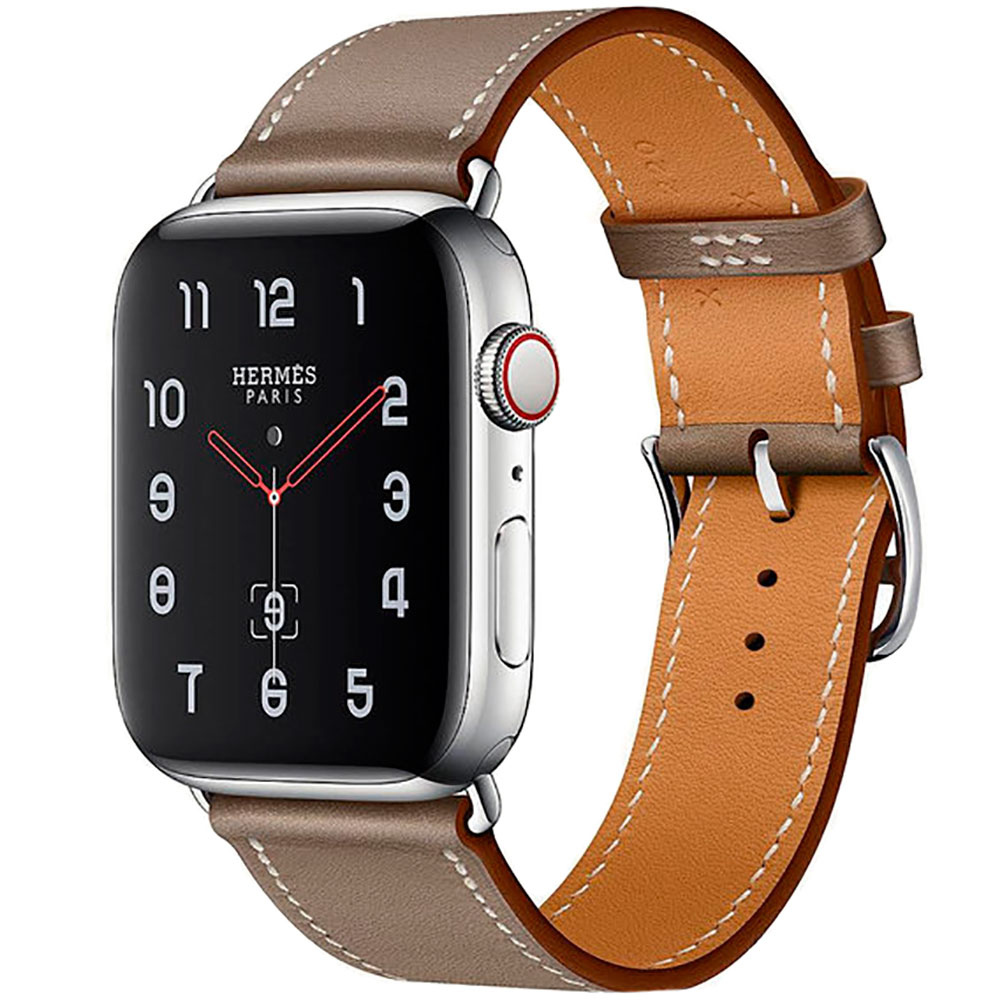 Купить Смарт-часы Apple Watch Hermes Series 4 44mm GPS+LTE Stainless Steel Case Etoupe Swift Leather Single Tour (H077059CJ18)