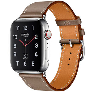 Купить Смарт-часы Apple Watch Hermes Series 4 44mm GPS+LTE Stainless Steel Case Etoupe Swift Leather Single Tour (H077059CJ18)