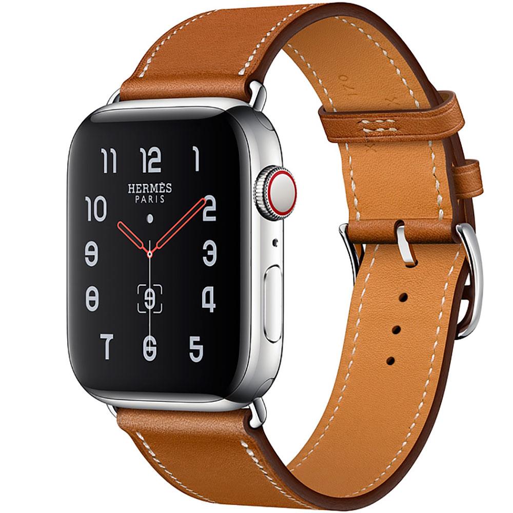 Купить Смарт-часы Apple Watch Hermes Series 4 44mm GPS+LTE Stainless Steel Case Fauve Barenia Single Tour (MU6V2)