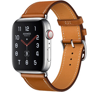 Купить Смарт-часы Apple Watch Hermes Series 4 44mm GPS+LTE Stainless Steel Case Fauve Barenia Single Tour (MU6V2)