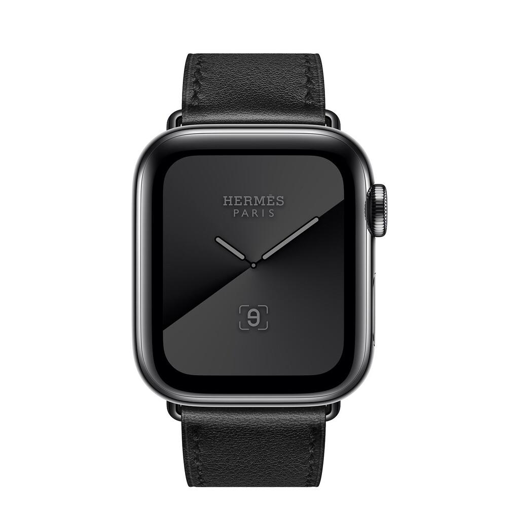 Купить Смарт-часы Apple Watch Hermès Series 5 40 mm Space Black Stainless Steel Case with Single Tour (MWWY2)