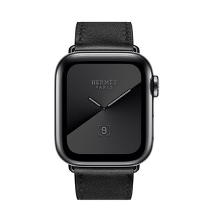 Купить Apple Watch Hermès Series 5 40 mm Space Black Stainless Steel Case with Single Tour (MX2P2)