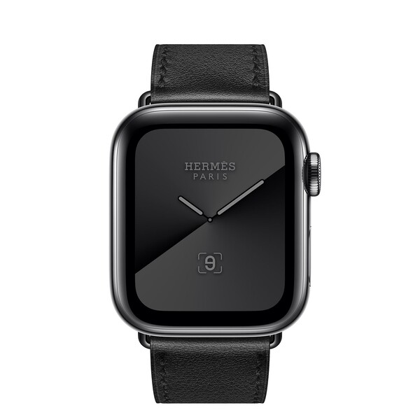 Смарт-часы Apple Watch Hermès Series 5 40 mm Space Black Stainless Steel Case with Single Tour (MWWY2)