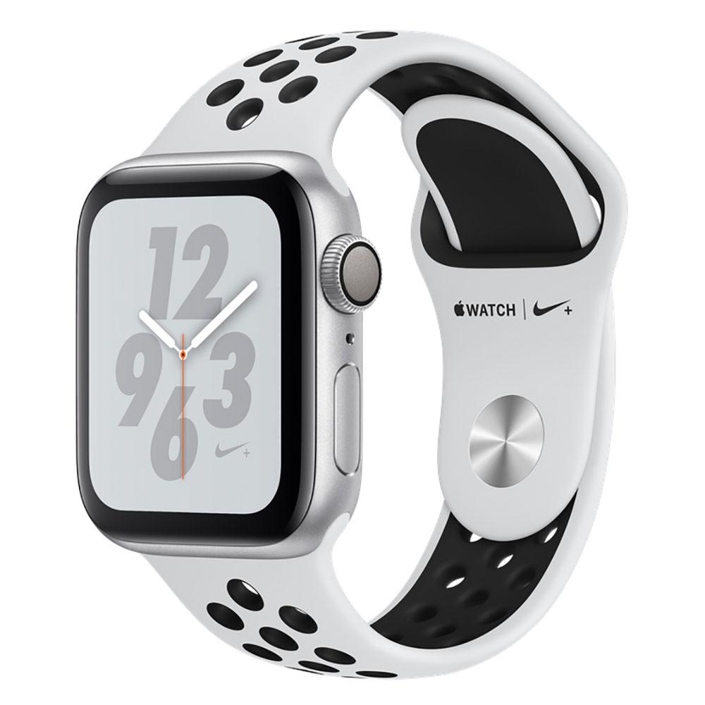 Купить Смарт-часы Apple Watch Nike+ Series 4 40mm GPS Silver Aluminum Case Pure Platinum | Black Nike Sport Band (MU6H2)