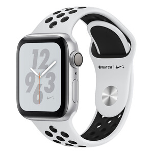 Купить Смарт-часы Apple Watch Nike+ Series 4 40mm GPS Silver Aluminum Case Pure Platinum/Black Nike Sport Band (MU6H2)