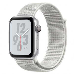 Купить Apple Watch Nike+ Series 4 44mm GPS+LTE Silver Aluminum Case Summit White Nike Sport Loop (MTXA2)