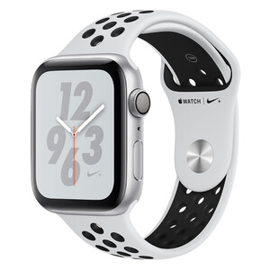 Купить Смарт-часы Apple Watch Nike+ Series 4 44mm GPS Silver Aluminum Case Pure Platinum/Black Nike Sport Band (MU6K2)