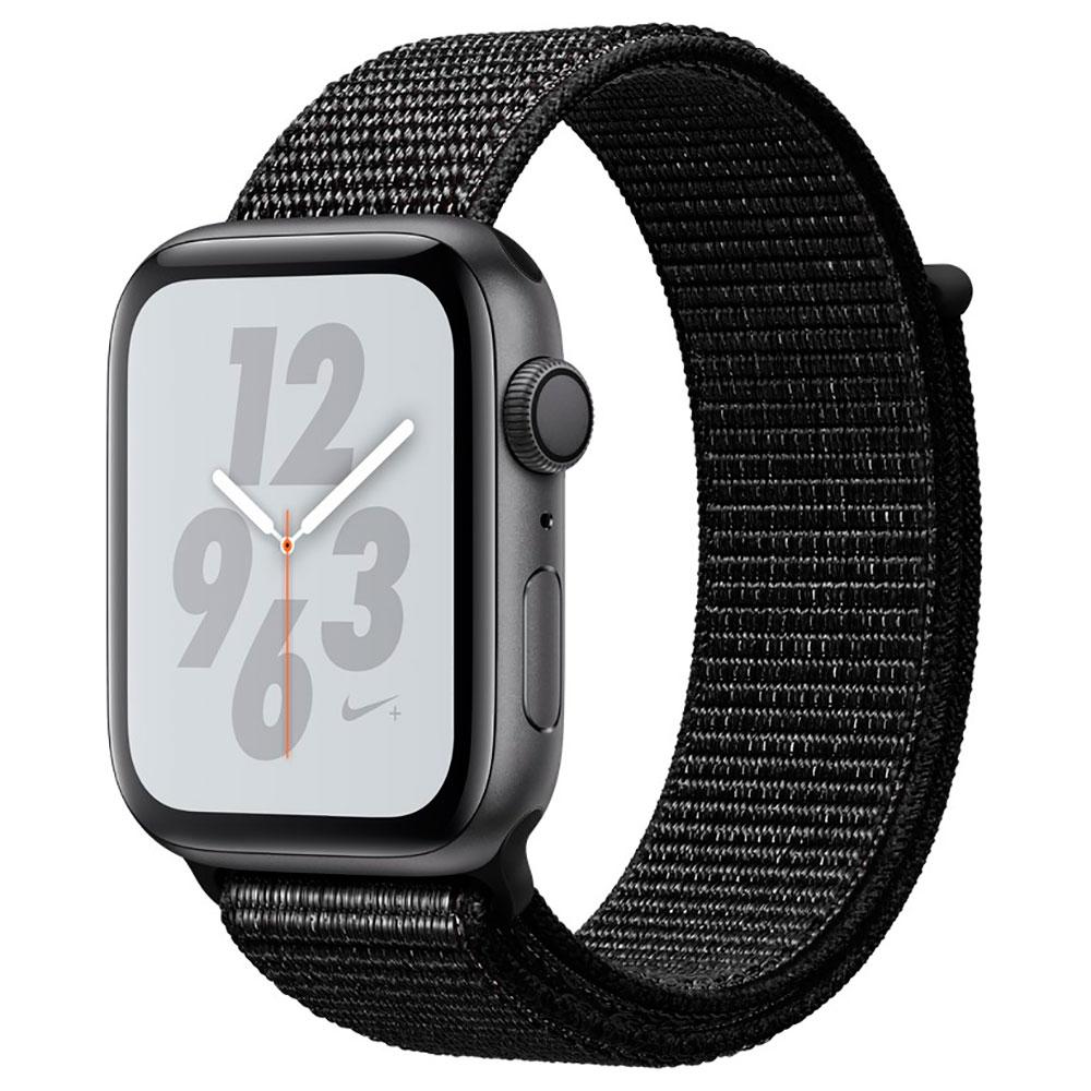 Купить Смарт-часы Apple Watch Nike+ Series 4 44mm GPS Space Gray Aluminum Case Black Nike Sport Loop (MU7J2)