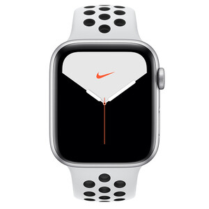 Купить Apple Watch Nike+ Series 5 44mm Silver Aluminum Case Sport Band (MX8F2)
