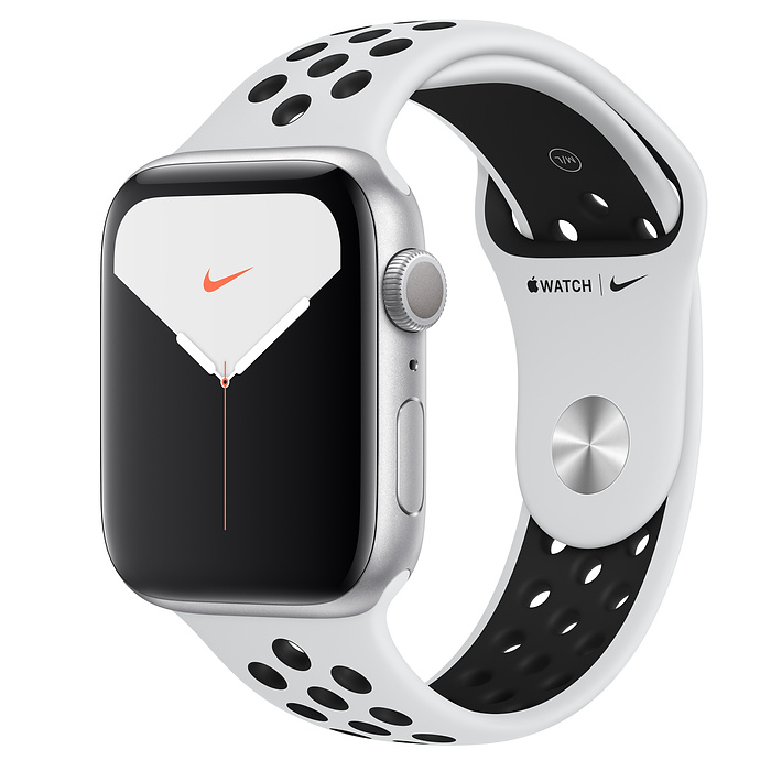 Смарт-часы Apple Watch Nike+ Series 5 44mm Silver Aluminum Case Sport Band (MX3V2)