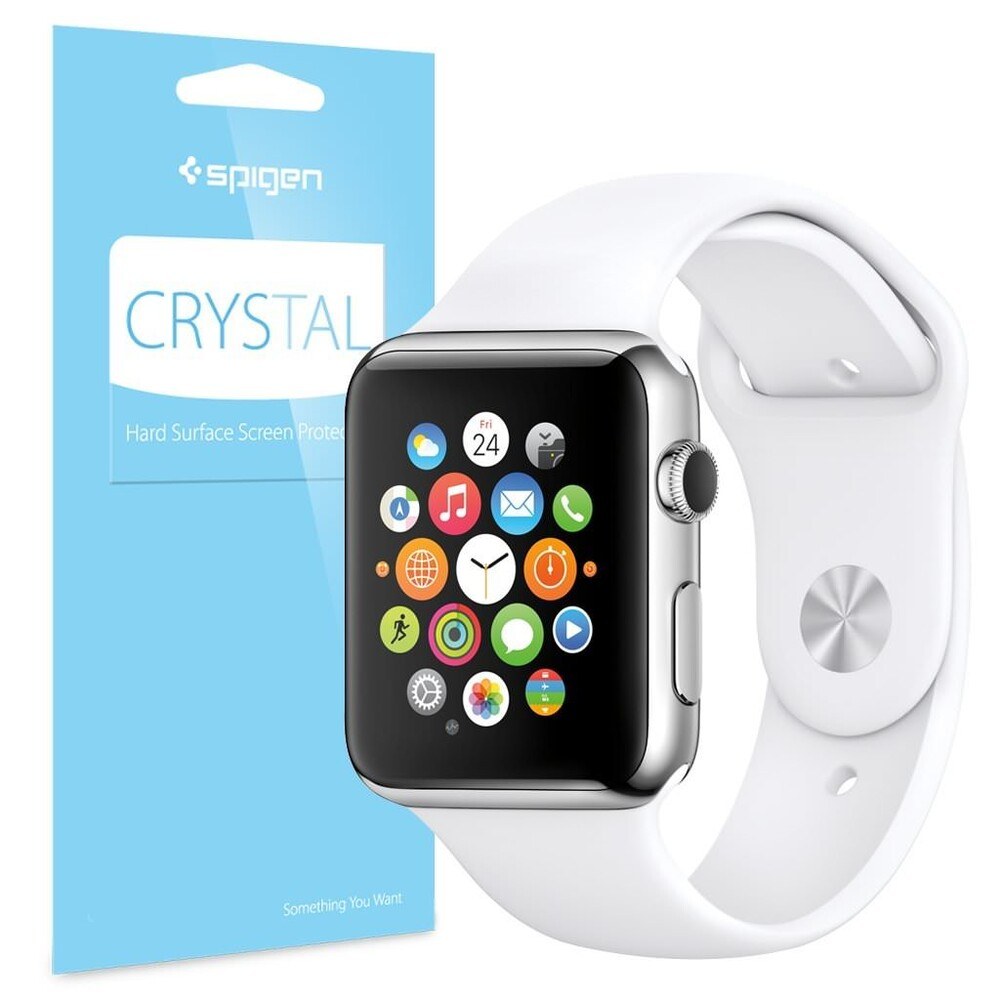 Защитная пленка Spigen Crystal для Apple Watch 38mm Series 3/2/1 (3 пленки)