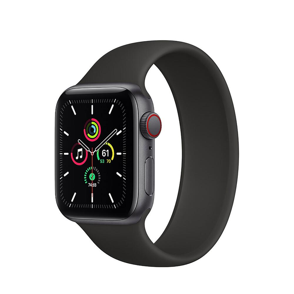 Купить Смарт-часы Apple Watch SE GPS + Cellular, 40mm Space Gray Aluminum Case with Black Solo Loop (MYF42 | MYF72) Размер 6