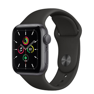 Купить Смарт-часы Apple Watch SE GPS, 40mm Space Gray Aluminum Case with Black Sport Band (MYDP2)