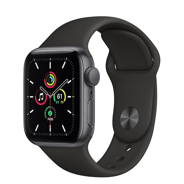 Смарт-часы Apple Watch SE GPS, 40mm Space Gray Aluminum Case with Black Sport Band (MYDP2)