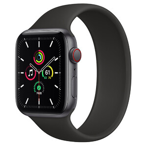 Купить Смарт-часы Apple Watch SE GPS + Cellular, 44mm Space Gray Aluminum Case with Black Solo Loop (MYFA2/MYFE2) Размер 12