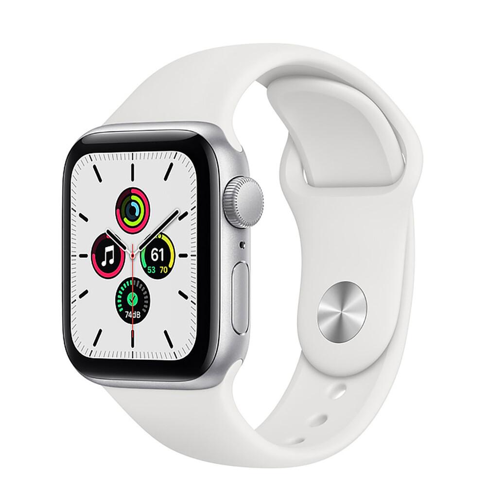 Купить Смарт-часы Apple Watch SE GPS, 40mm Silver Aluminum Case with White Sport Band (MYDM2)