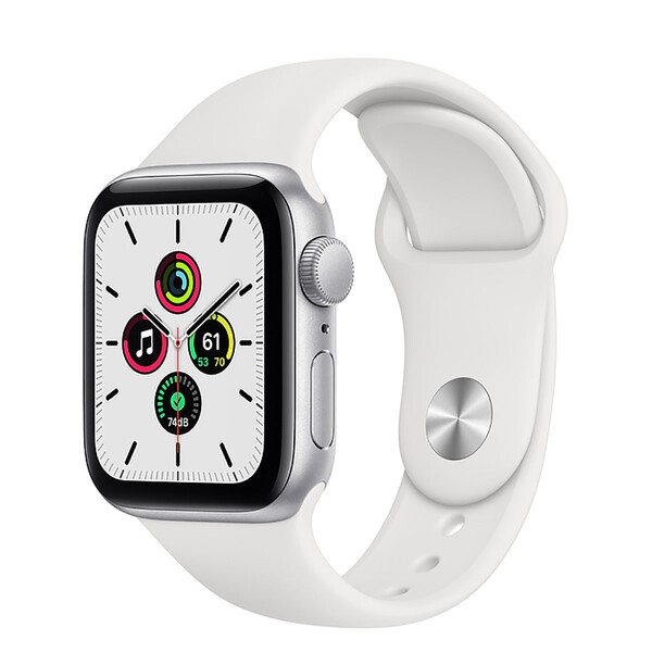 Смарт-часы Apple Watch SE GPS, 40mm Silver Aluminum Case with White Sport Band (MYDM2)