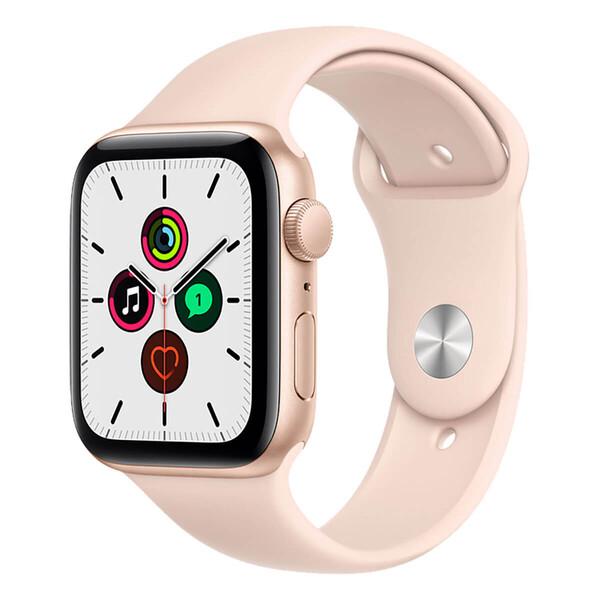 Смарт-часы Apple Watch SE GPS 44mm Gold Aluminum Case with Pink Sand Sport Band (MYDR2)