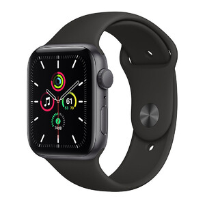 Купить Смарт-часы Apple Watch SE GPS, 44mm Space Gray Aluminum Case with Black Sport Band (MYDT2)