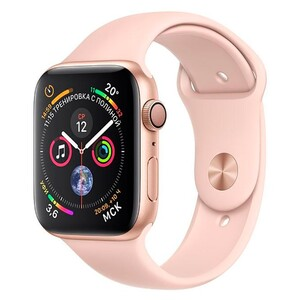 Купить Apple Watch Series 4 40mm GPS Gold Aluminum Case Pink Sand Sport Band (MU682)