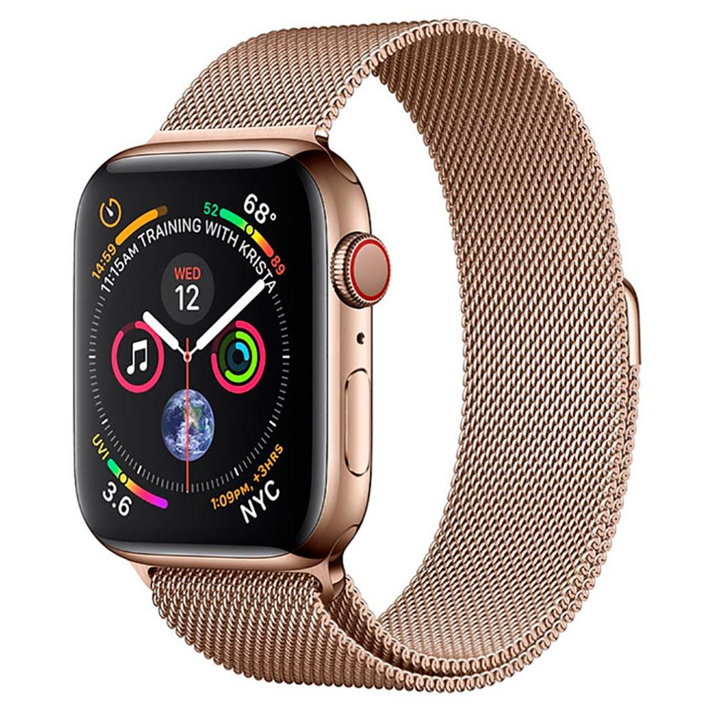 Купить Смарт-часы Apple Watch Series 4 40mm GPS+LTE Gold Stainless Steel Case Gold Milanese Loop (MTUT2 | MTVQ2)
