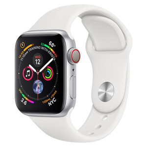Купить Смарт-часы Apple Watch Series 4 40mm GPS+LTE Silver Aluminum Case White Sport Band (MTUD2/MTVA2)