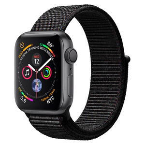 Купить Apple Watch Series 4 40mm GPS+LTE Space Gray Aluminum Case Black Sport Loop (MTVF2)