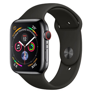 Купить Смарт-часы Apple Watch Series 4 40mm GPS+LTE Space Black Stainless Steel Case Black Sport Band (MTVL2/MTUN2)