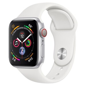 Купить Смарт-часы Apple Watch Series 4 40mm GPS Silver Aluminum Case White Sport Band (MU642)