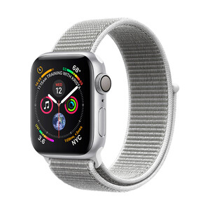 Купить Смарт-часы Apple Watch Series 4 40mm GPS Silver Aluminum Case Seashell Sport Loop (MU652)