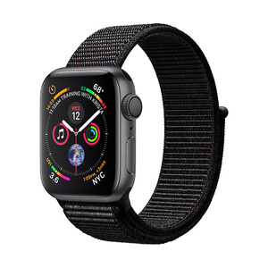 Купить Смарт-часы Apple Watch Series 4 40mm GPS Space Gray Aluminum Case Black Sport Loop (MU672)