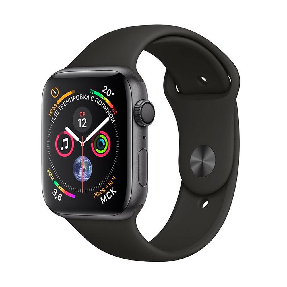 Купить Смарт-часы Apple Watch Series 4 40mm GPS Space Gray Aluminum Case Black Sport Band (MU662)