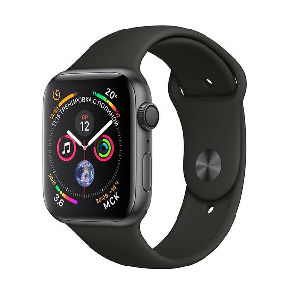 Смарт-часы Apple Watch Series 4 40mm GPS Space Gray Aluminum Case Black Sport Band (MU662)