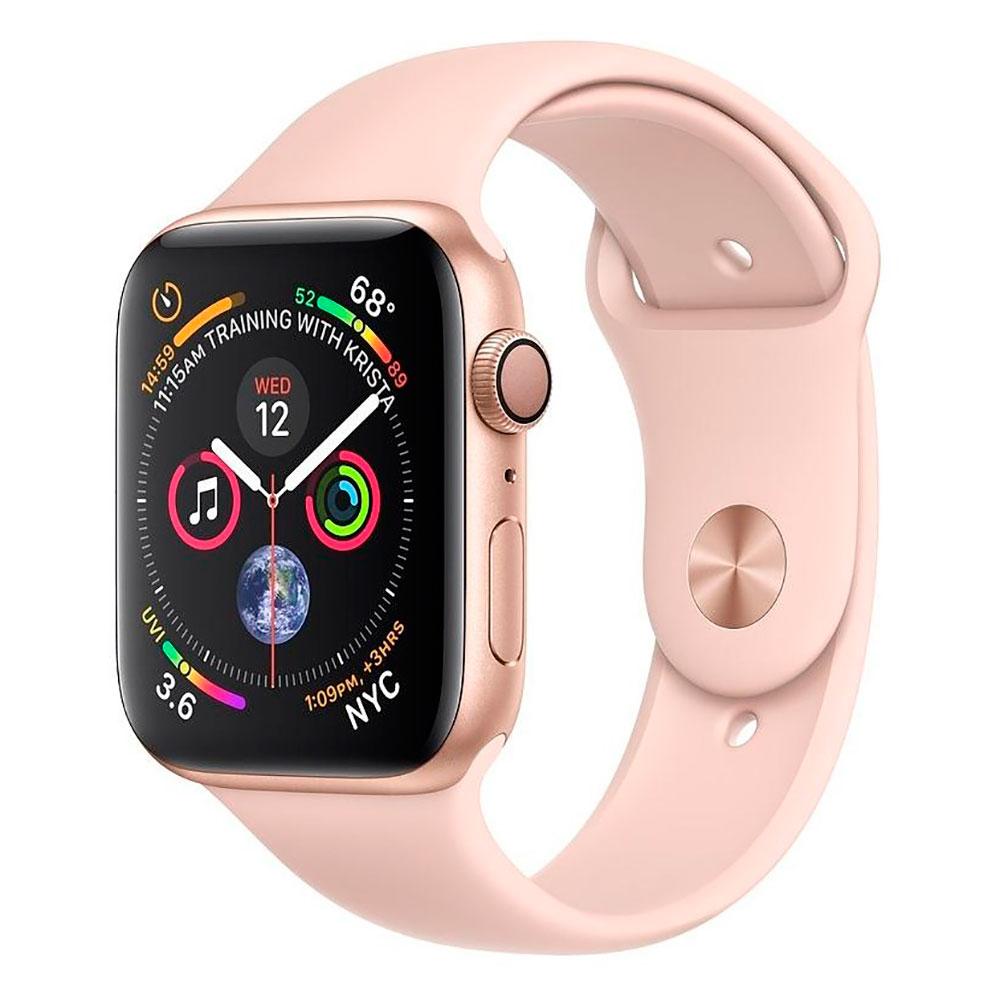 Купить Смарт-часы Apple Watch Series 4 44mm GPS Gold Aluminum Case Pink Sand Sport Band (MU6F2)