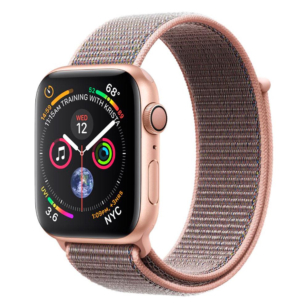 Купить Смарт-часы Apple Watch Series 4 44mm GPS Gold Aluminum Case Pink Sand Sport Loop (MU6G2)