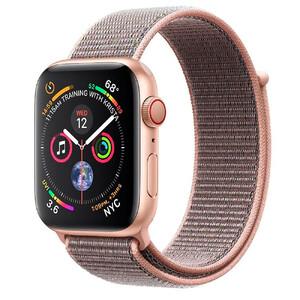 Купить Apple Watch Series 4 44mm GPS+LTE Gold Aluminum Case Pink Sand Sport Loop (MTV12/MTVX2)