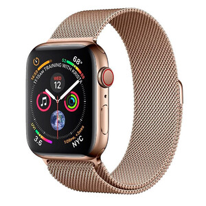Купить Смарт-часы Apple Watch Series 4 44mm GPS+LTE Gold Stainless Steel Case Gold Milanese Loop (MTV82/MTX52)