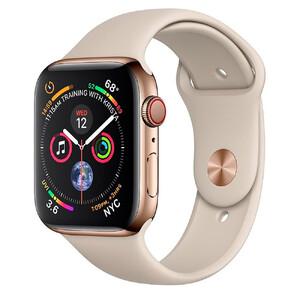 Купить Смарт-часы Apple Watch Series 4 44mm GPS+LTE Gold Stainless Steel Case Stone Sport Band (MTV72   MTX42)