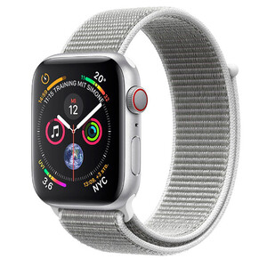 Купить Смарт-часы Apple Watch Series 4 44mm GPS+LTE Silver Aluminium Case Seashell Sport Loop (MTVT2/MTUV2)