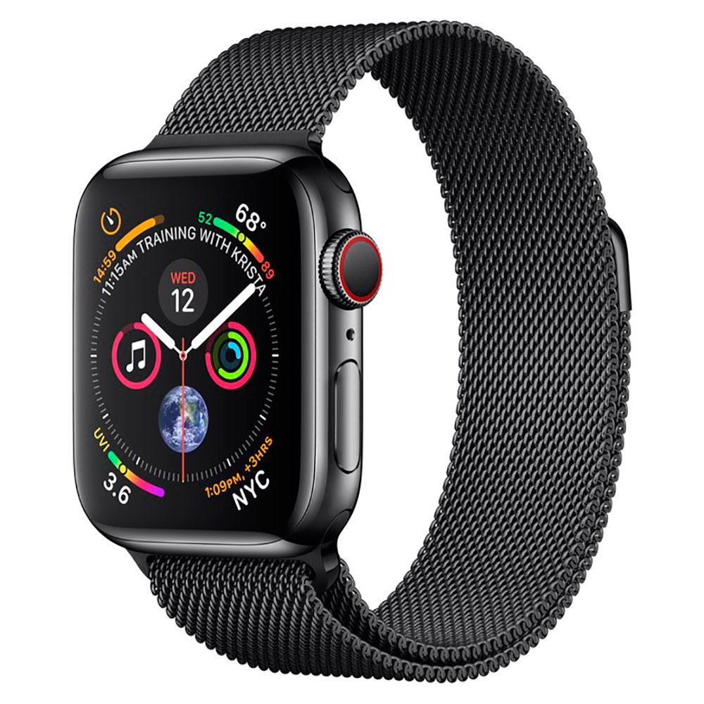 Купить Смарт-часы Apple Watch Series 4 44mm GPS+LTE Space Black Stainless Steel Case Space Black Milanese Loop (MTV62 | MTX32)