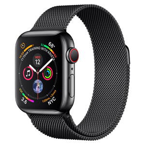 Купить Смарт-часы Apple Watch Series 4 44mm GPS+LTE Space Black Stainless Steel Case Space Black Milanese Loop (MTV62/MTX32)