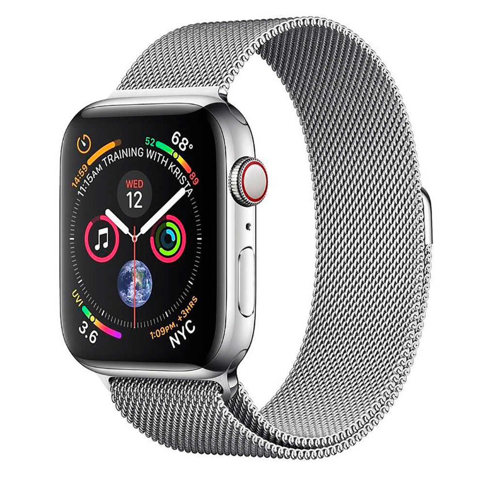 Купить Смарт-часы Apple Watch Series 4 44mm GPS+LTE Stainless Steel Case Milanese Loop (MTV42 | MTX12)