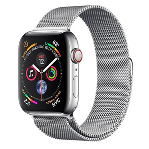 Купить Смарт-часы Apple Watch Series 4 44mm GPS+LTE Stainless Steel Case Milanese Loop (MTV42/MTX12)