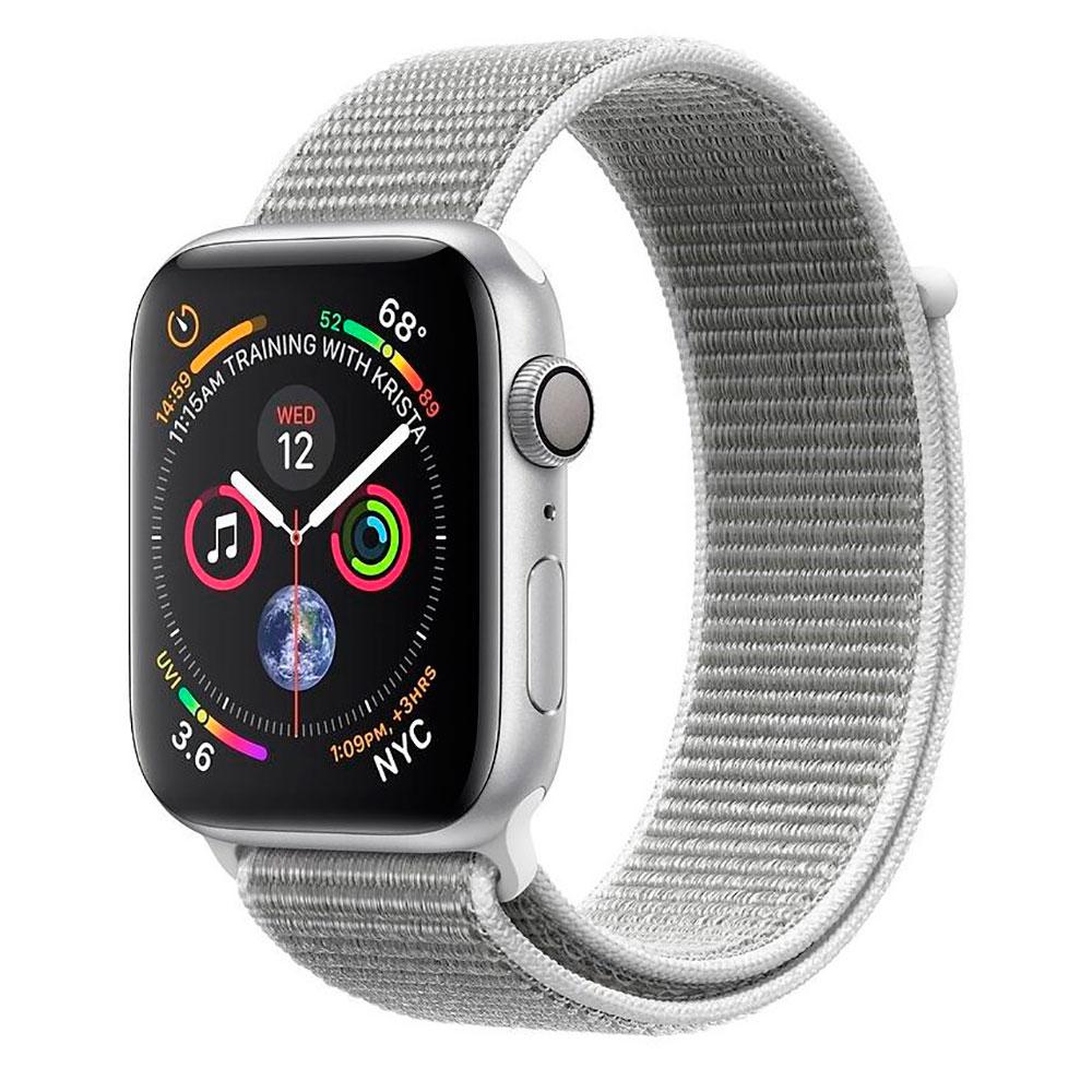 Купить Смарт-часы Apple Watch Series 4 44mm GPS Silver Aluminum Case Seashell Sport Loop (MU6C2)