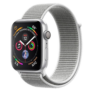 Купить Apple Watch Series 4 44mm GPS Silver Aluminum Case Seashell Sport Loop (MU6C2)