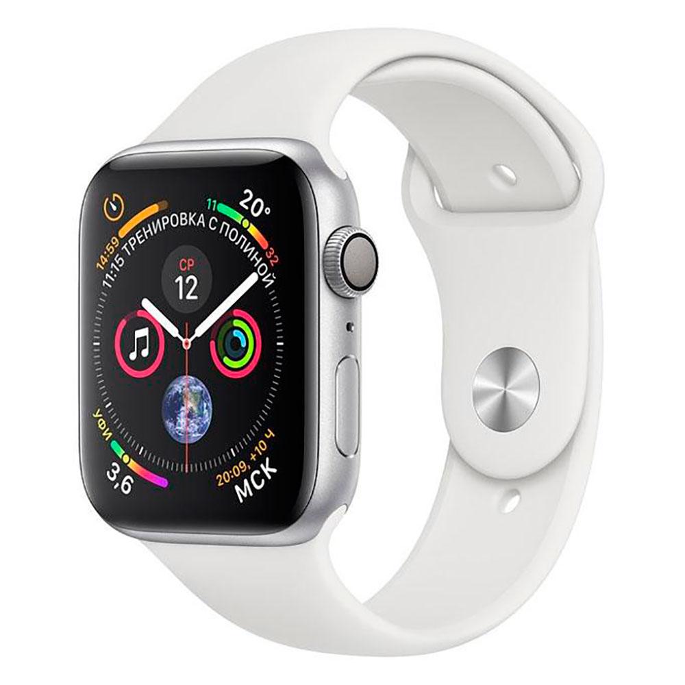 Купить Смарт-часы Apple Watch Series 4 44mm GPS Silver Aluminum Case White Sport Band (MU6A2)