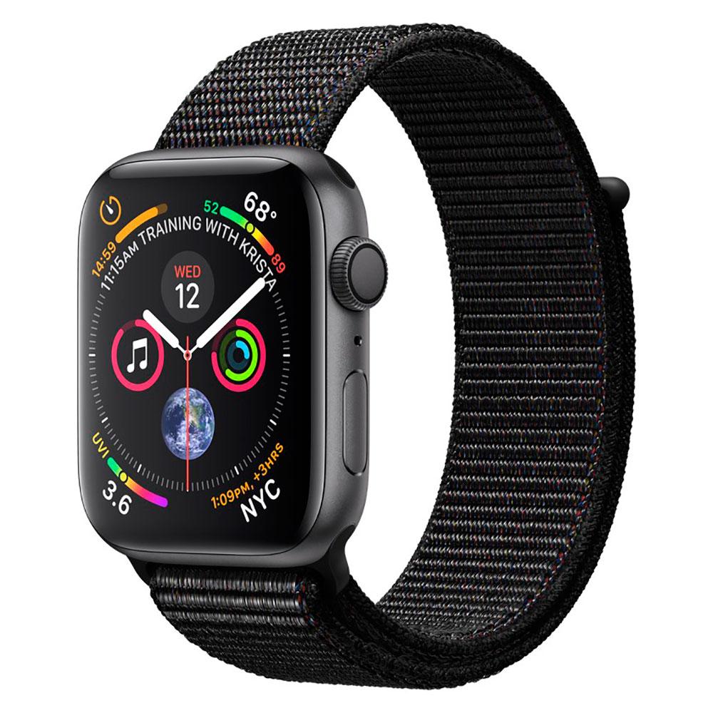 Купить Смарт-часы Apple Watch Series 4 44mm GPS Space Gray Aluminum Case Black Sport Loop (MU6E2)