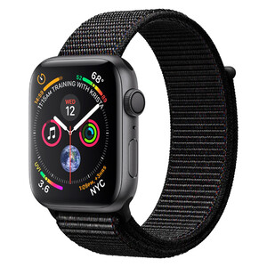 Купить Смарт-часы Apple Watch Series 4 44mm GPS Space Gray Aluminum Case Black Sport Loop (MU6E2)